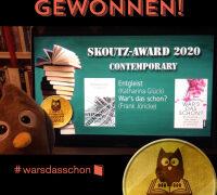 Autor Frank Jöricke gewinnt Skoutz-Award 2020