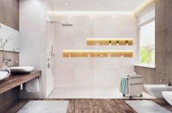 Passt immer: Gutjahr-Duschrinne direkt auf der Baustelle ablängbar